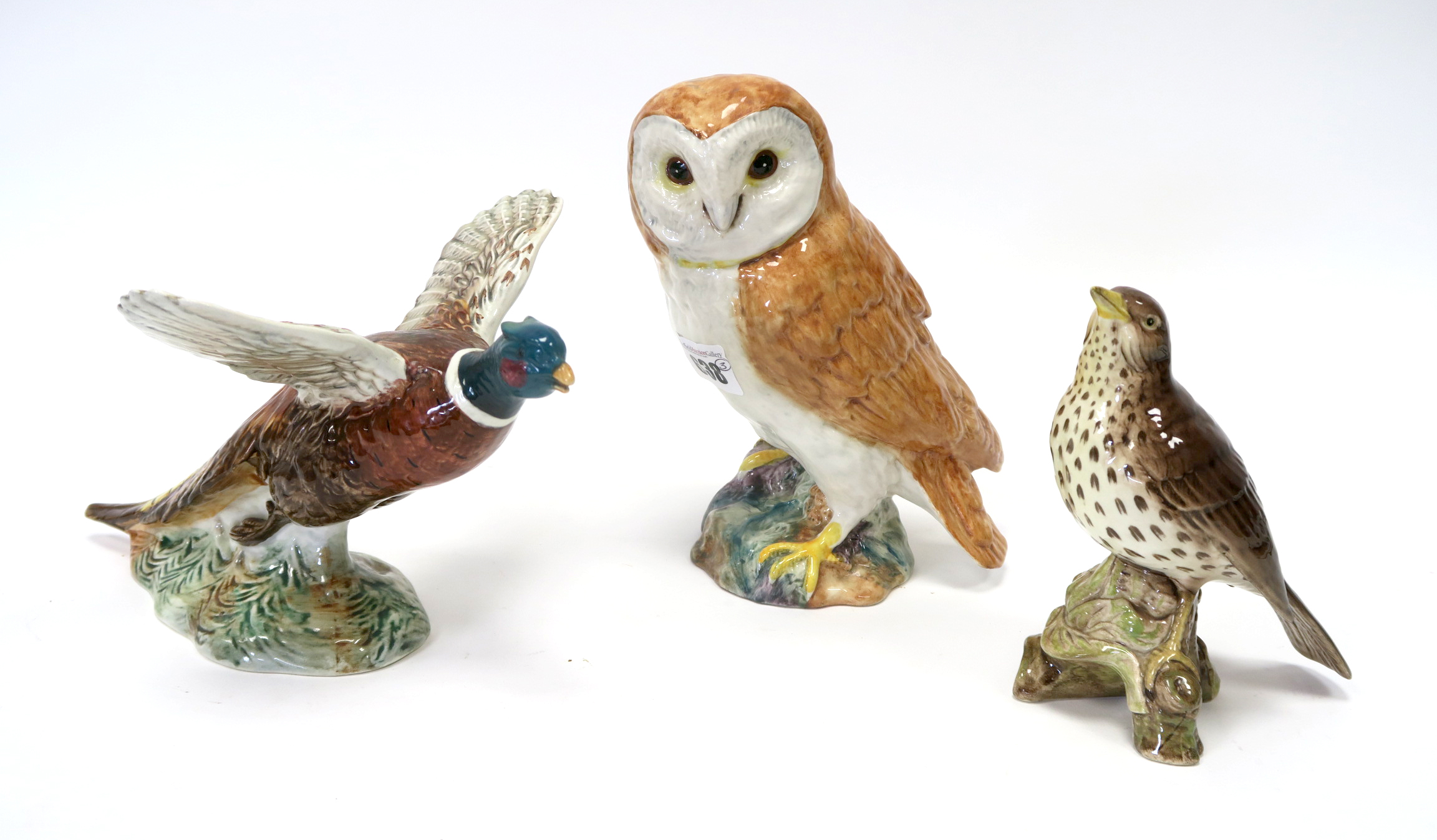 Lot 638 - A Beswick Pottery Barn Owl, shape number 1046, printed and impressed marks, 19cm high; A Beswick