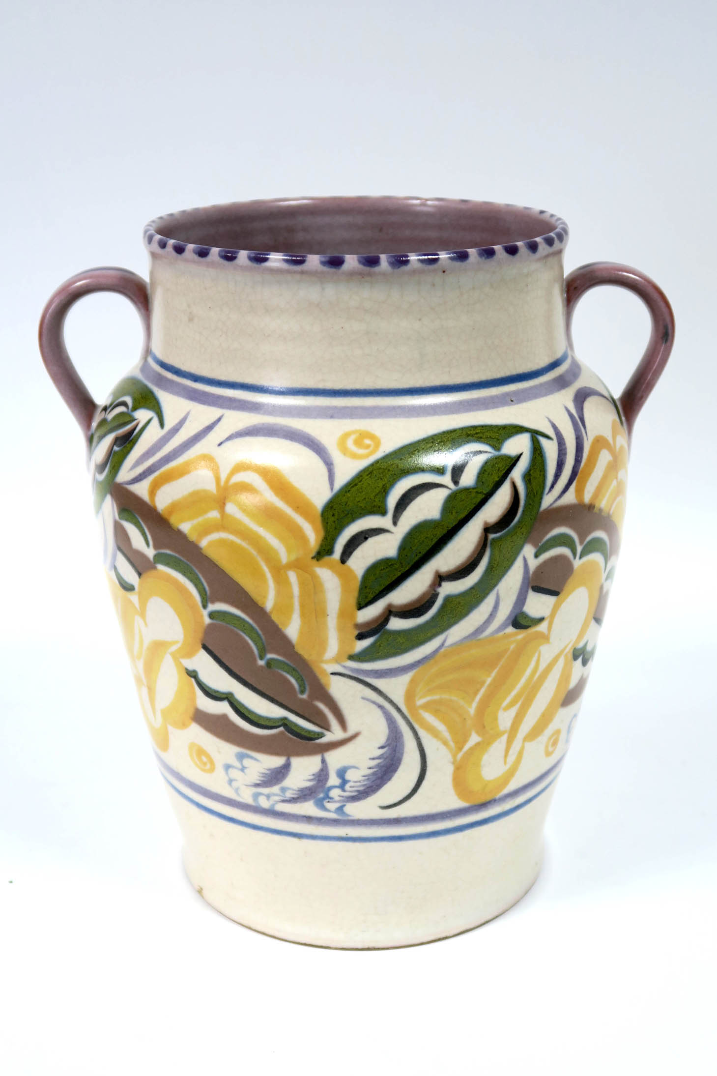 Lot 651 - A Carter, Stabler and Adams Poole Pottery Red Earthenware Large Two Handled Vase, of tapered