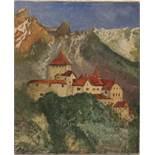 Unbekannt 20. Jh.Schloss Vaduz. Öl/Lwd. H: 46,5 x 38,5 cm.