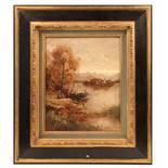 Will. M.Ansicht Sankt Bartholomä. Öl/Lwd. H: 30 x 32 cm. Rahmen. 49 x 43 cm.