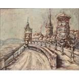 Rechenbeck, 20. Jh.Köln mit Hohenzollernbrücke. Öl/Lwd. Rechts u. sign. und dat. 61. H: 40