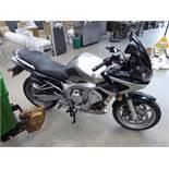 SN04 ERK - Yamaha FZ6 Fazer 599cc petrol, motorcycle, silver, first registered 2004, MOT Oct 2020 (