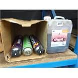 Stihl petrol additive and line marking spray