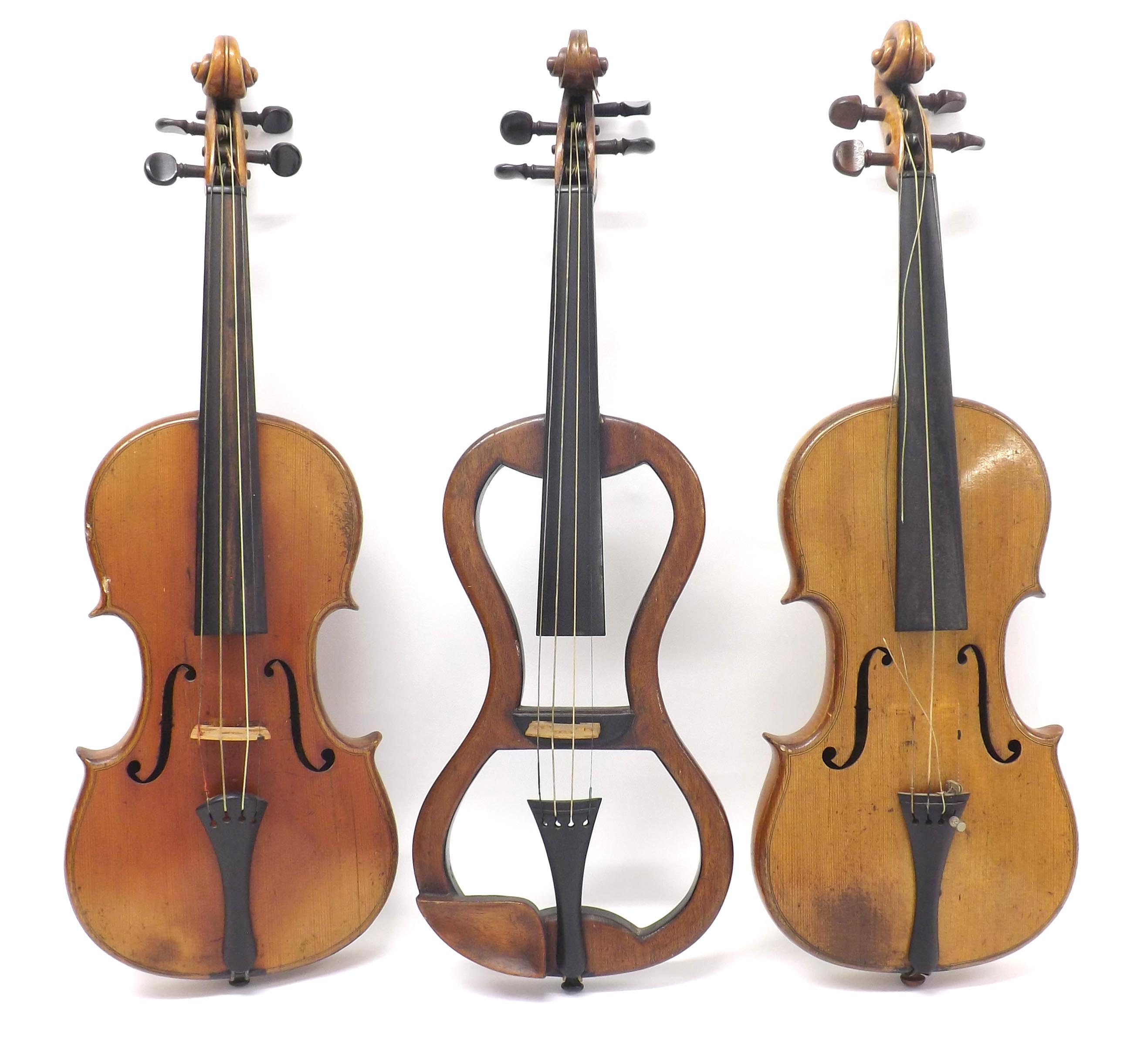 Two full size Russian violins, both labelled Rigart Rubus