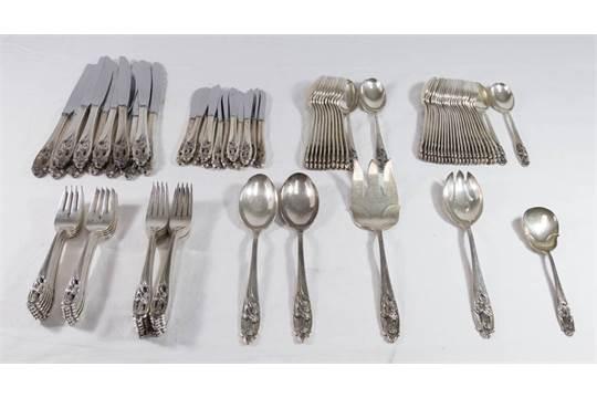"Silver Iris by International Sterling Silver Regular Fork 7 1//4/"""