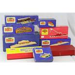 Nine boxed Hornby Dublo trackside accessories to include D1 Through Station, D1 Island Platform,