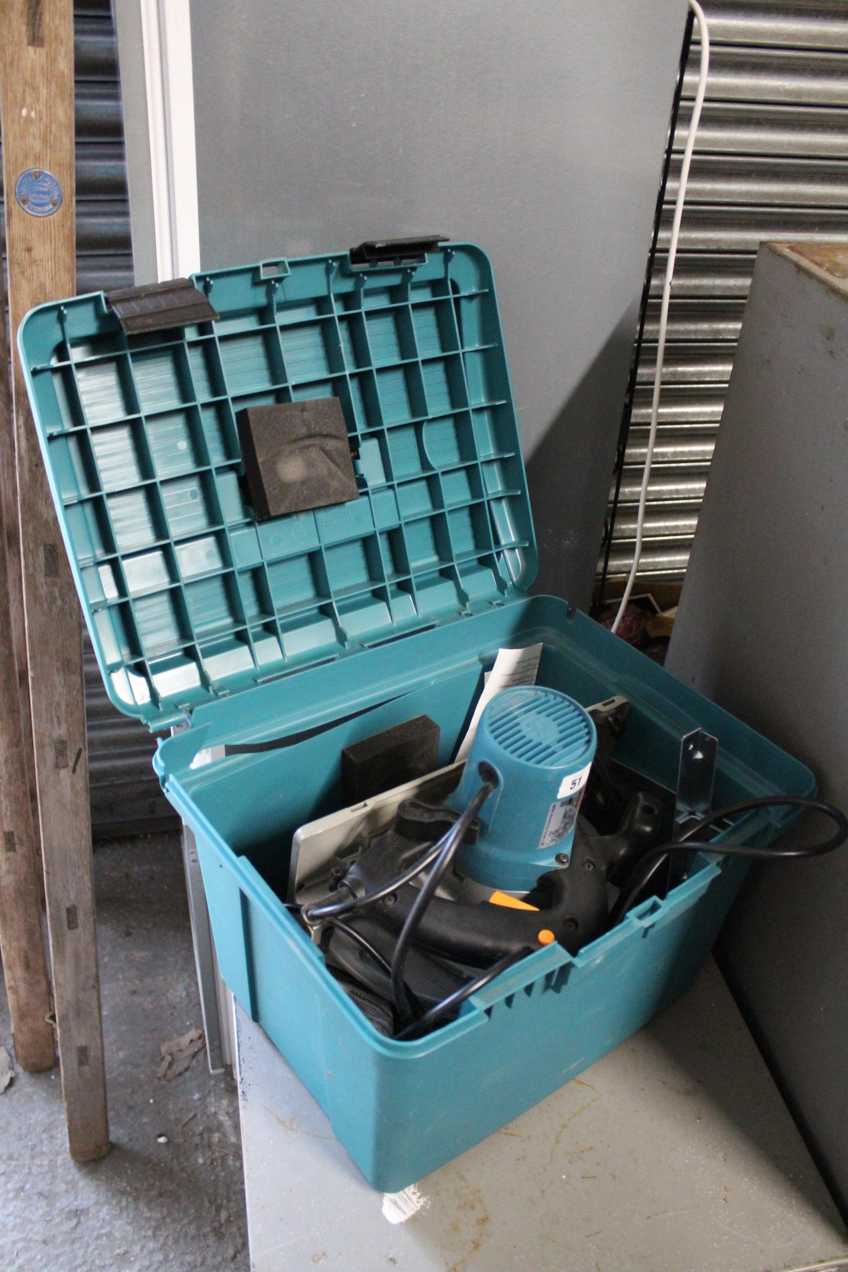 Lot 51 - A Makita 240V circular saw, cased, w.o.