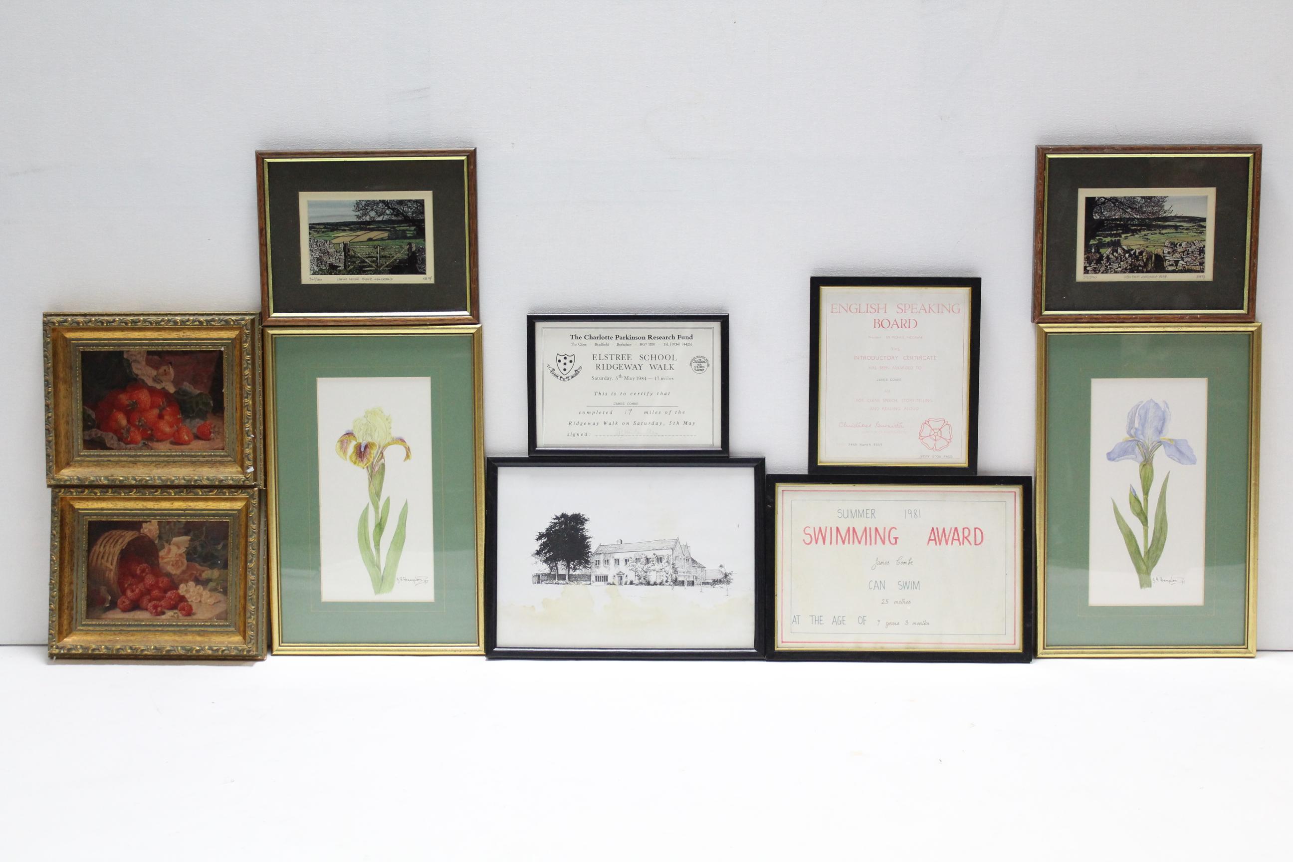 Lot 35 - Fourteen decorative pictures.