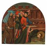 "15th century Spanish School""The decapitation and the last communion of Saint Lucia""Pair of panel"