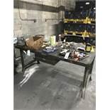 {LOT} Handtools & 6' Steel Bench w/Drawer
