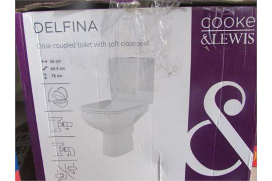 Cooke And Lewis Delfina Close Coupled Toilet