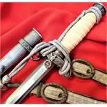 WW2 German Army officer's dagger, scabbard, knot & hangers by Anton Wingen Jr of Solingen