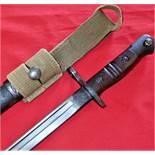 WW1 1913 Pattern Remington Bayonet & Scabbard