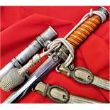 WW2 German Army officer's dagger, scabbard, knot & hangers by Carl Eickhorn of Solingen