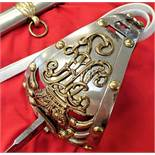 British Army 1834 Ptn Royal Horse Guards Officer's sword/scabbard-Charles Chetwynd-Talbot