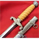 WW2 German Army officer's dagger & scabbard