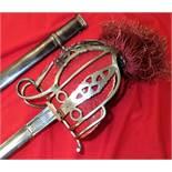 British Army Scottish Basket Hilt Officer's sword & scabbard