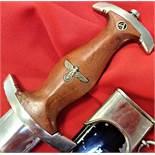 German S.A./N.S.K.K. Model 1933 1st pattern dagger & scabbard by Daniel Peres of Solingen