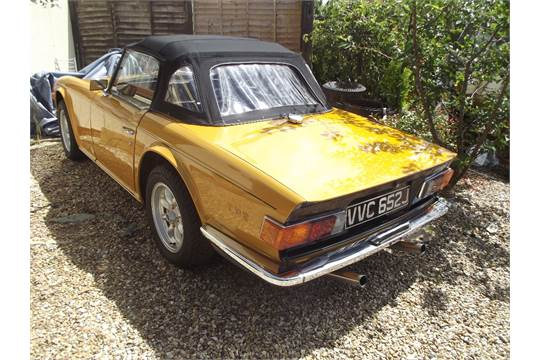 A 1970 Triumph TR6, registration number VVC 652J, chassis