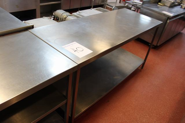 Lot 40 - Stainless steel preparation  table with undershelf 1800mm x 700mm  Lift out charge  5