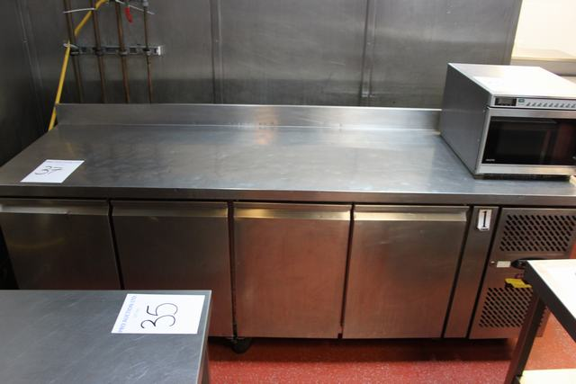 Lot 37 - Frigomac CF7410 bench freezer 4 door temperature range -10  to -20°c  gross volume 553 litre  all
