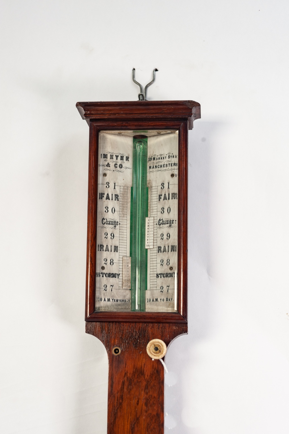 Lot 75 - A NINETEENTH CENTURY ROSEWOOD CASED MERCURY TABLE STICK BAROMETER, the bone register plates