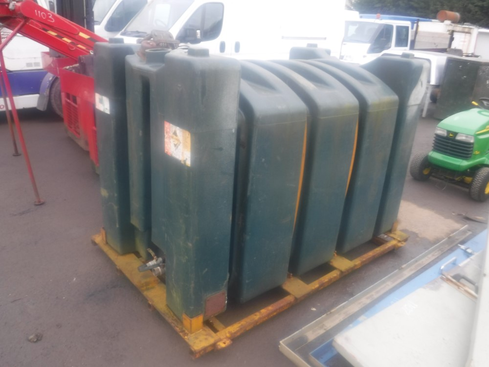 Lot 1130 - 500 GALLON TANK ON SKID [NO VAT]