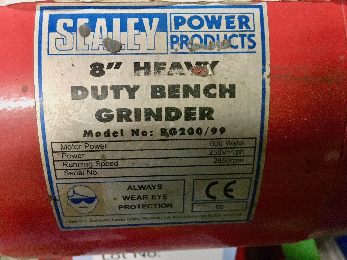 Sealey Bg200 99 8 Quot Heavy Duty Double Ended Bench Grinder