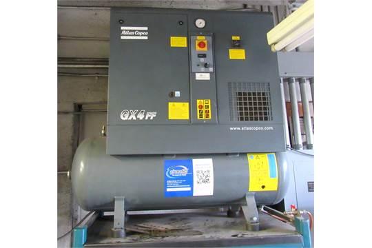 Atlas Copco GX4FF 5HP 53 Gallon Rotary Screw Air Compressor