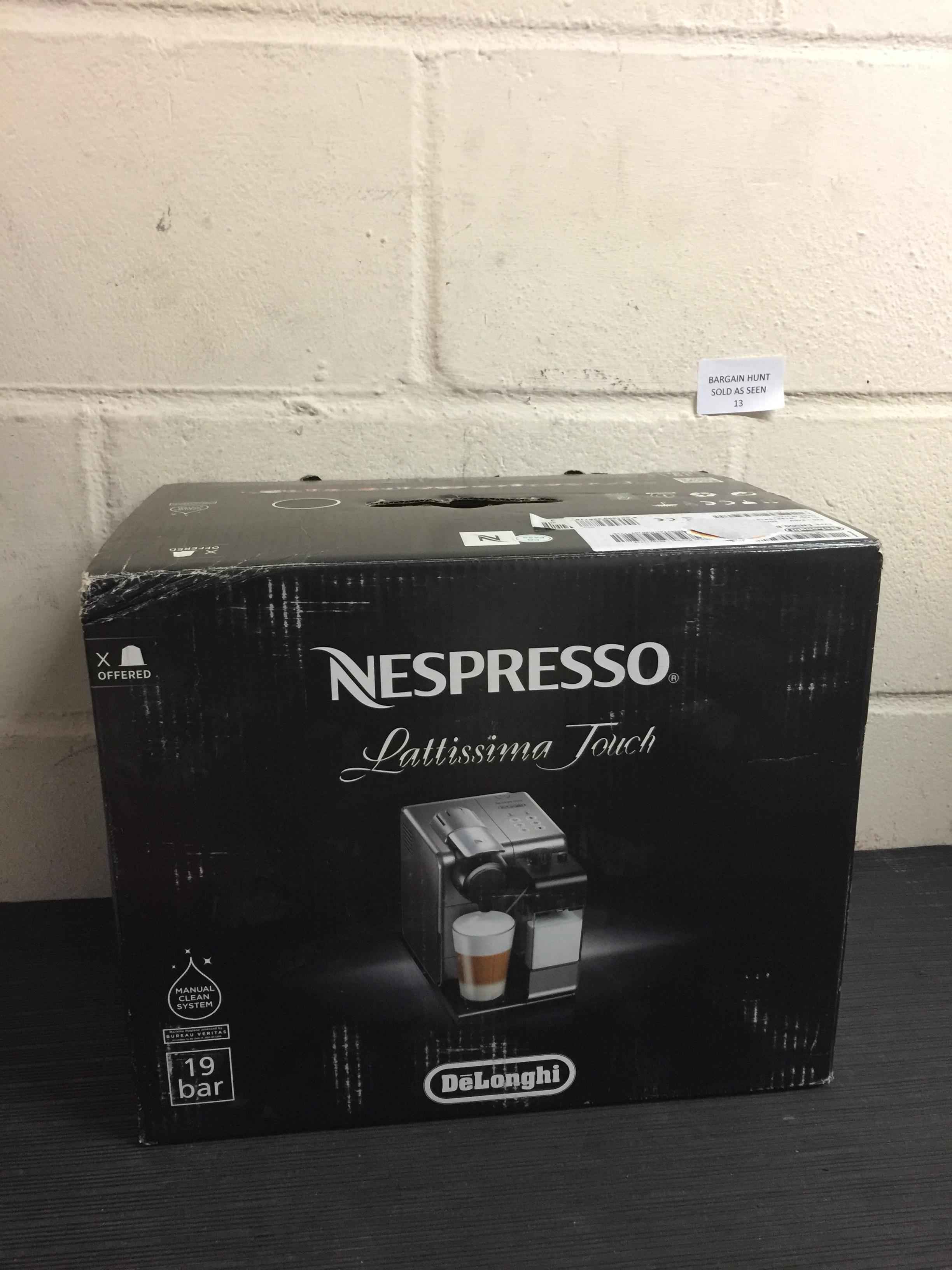 Lot 13 - Nespresso EN550.BM Lattissima Touch Automatic Coffee Machine RRP £200