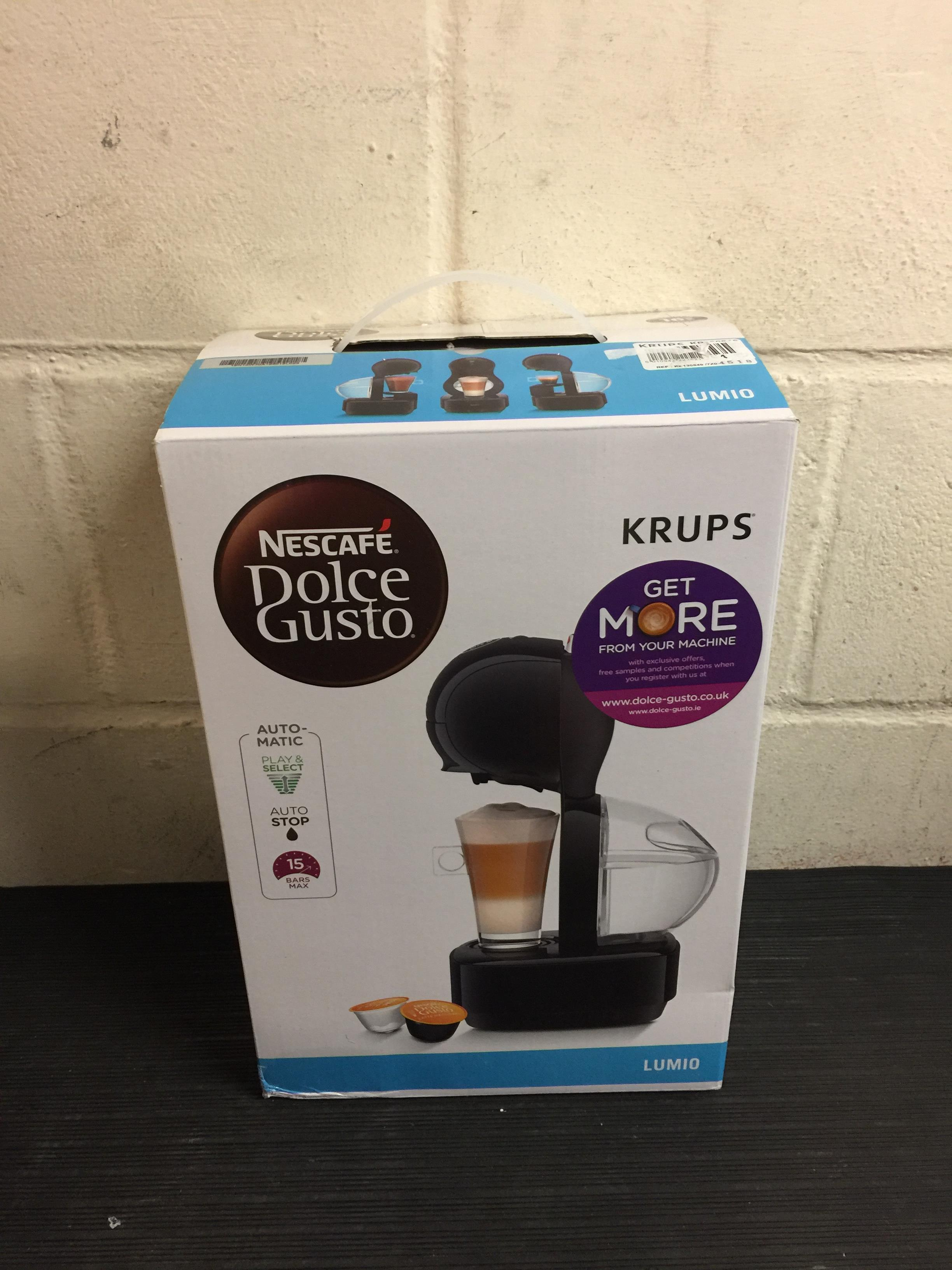 Lot 15 - Nescafé Dolce Gusto Krups Lumio Automatic Coffee Machine RRP £72.99