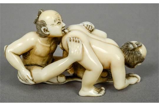 Erotic netsuke for sale