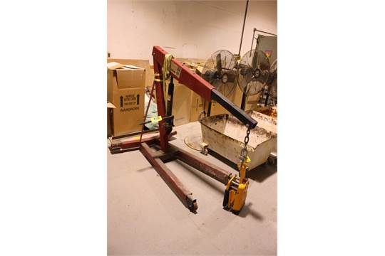 excell model w1000 2 ton portable engine hoist