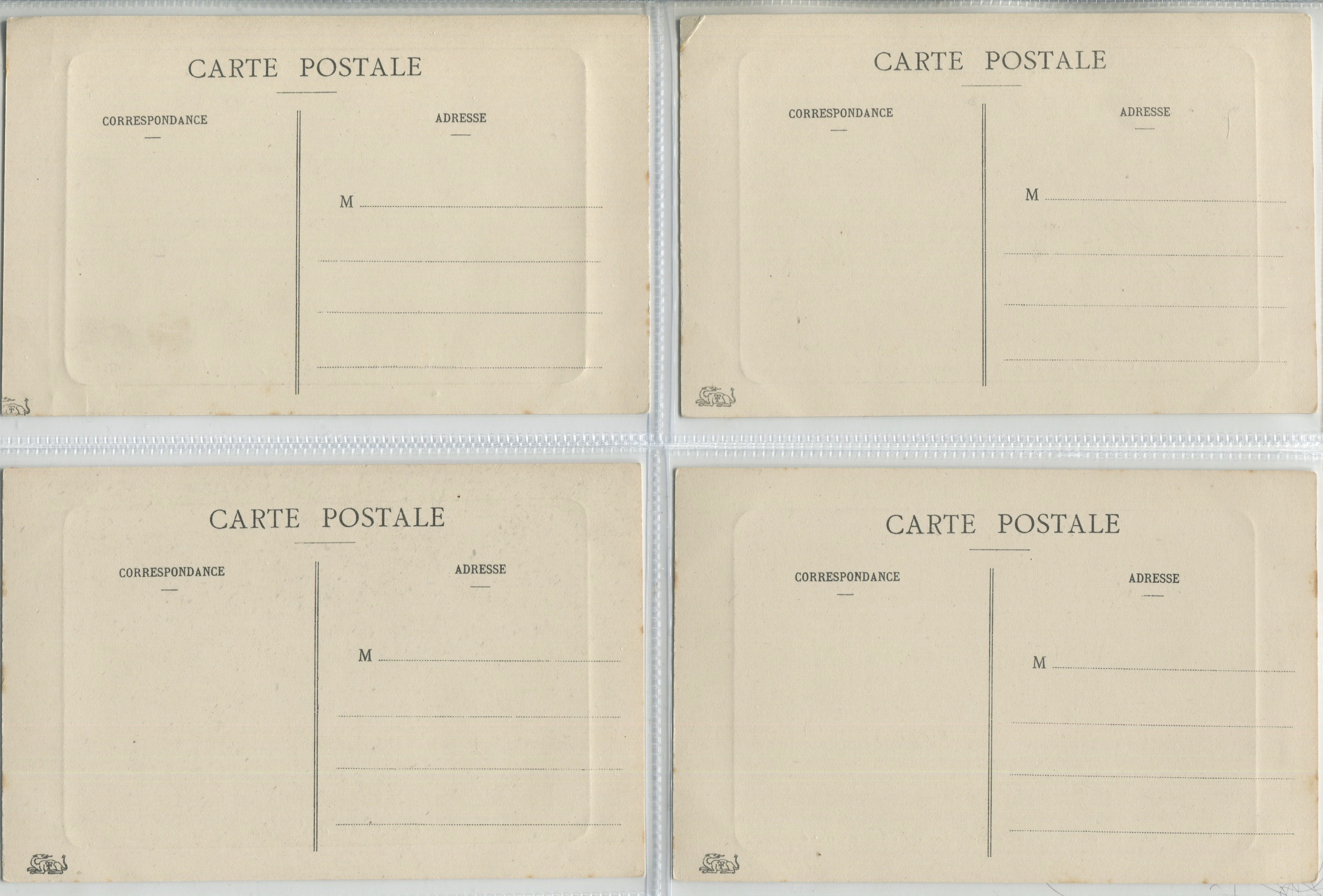 FOUR VINTAGE POSTCARDS OF PALAIS DE FONTAINEBLEAU - Image 2 of 2