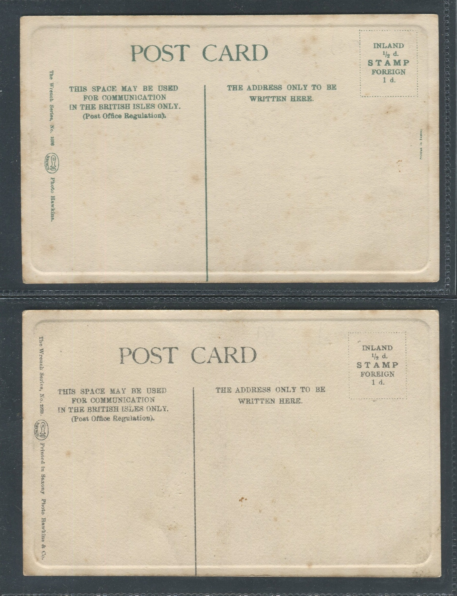 TWO VINTAGE CRICKET POSTCARDS LORD HAWKE & F.S. JACKSON - Image 2 of 2