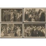 FOUR VINTAGE POSTCARDS OFFIZIELLE POSTKARTE 1922 PASSIONSSPIELE O AMMERGAU