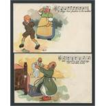 TWO MUSIC / SONG DAVIDSON BROS PICTORIAL POST CARDS FROM ORIGINALSBY PYP.
