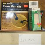 Lot of Flush fit 3-way Switch & Hubbell Floor Box Kit