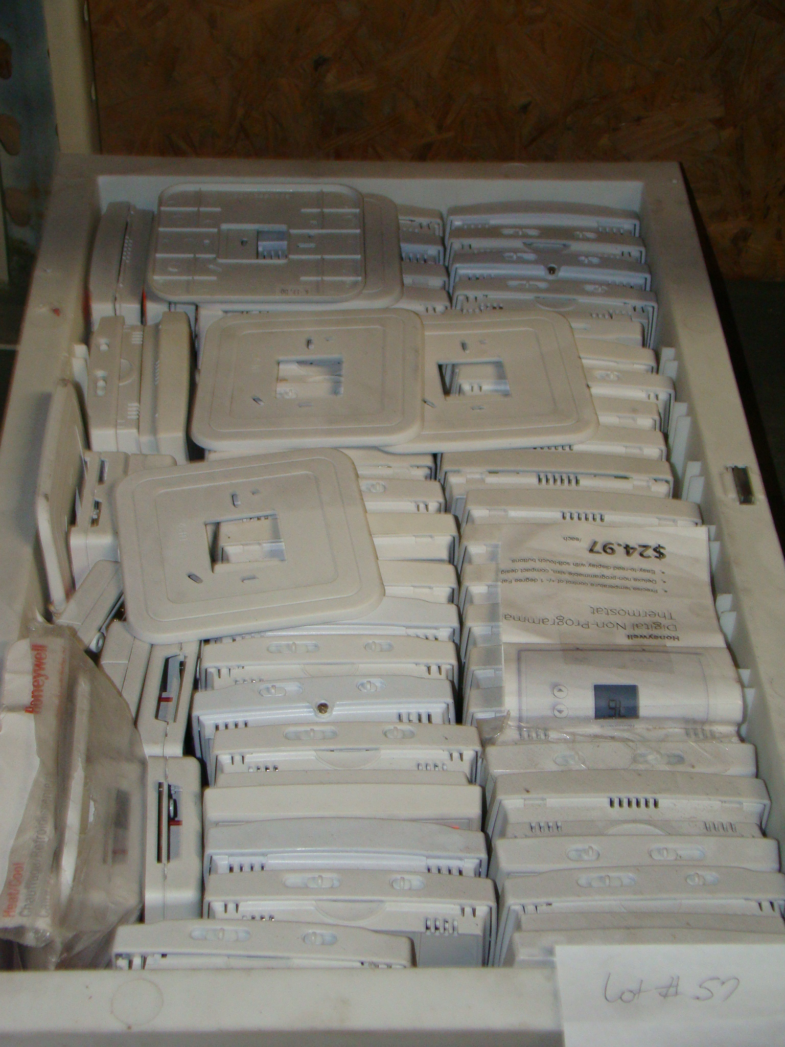 Lot 57 - White box of various thermostats