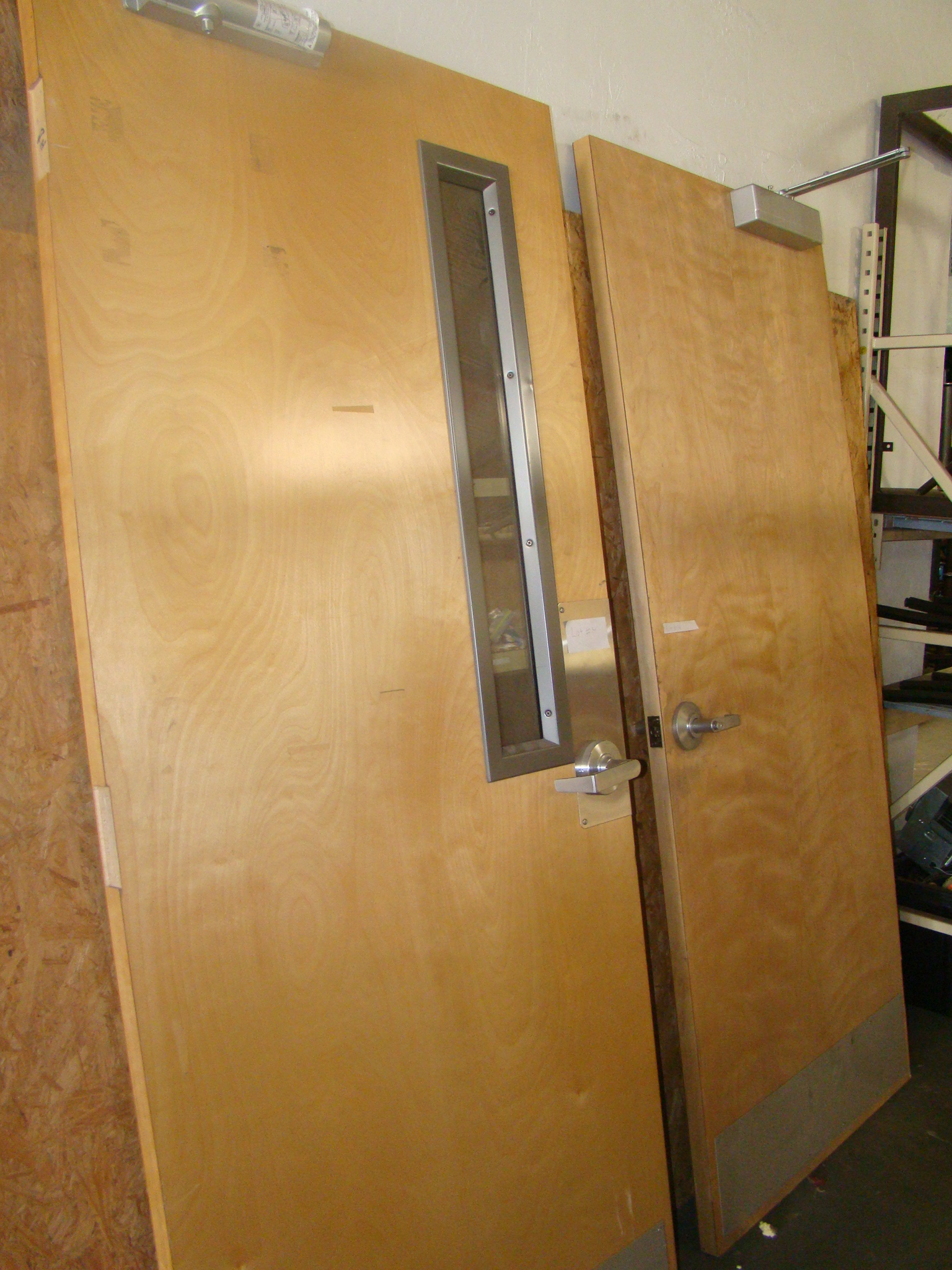 "Lot 14 - 2 Office doors 83 1/2"" x 36""outward swing"