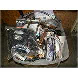 Crate of kitchen faucets- trim kit, hardware