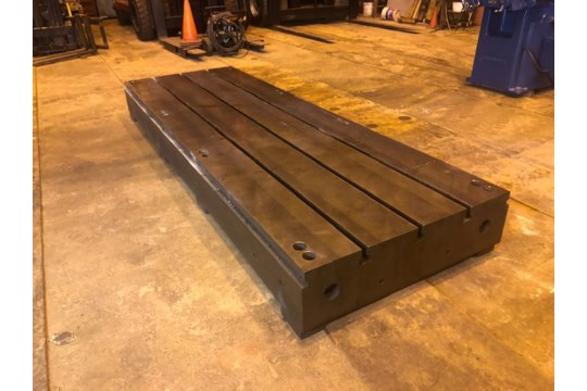 Lot 48 - T Slotted Floor Plate 144x48x12.5