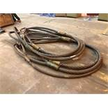 6 Large Steel Lifting Cables
