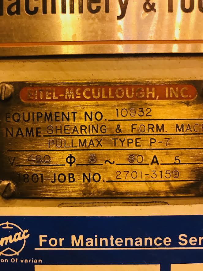 Pullmax Nibbler P7 Metalworking Machine - Image 3 of 5