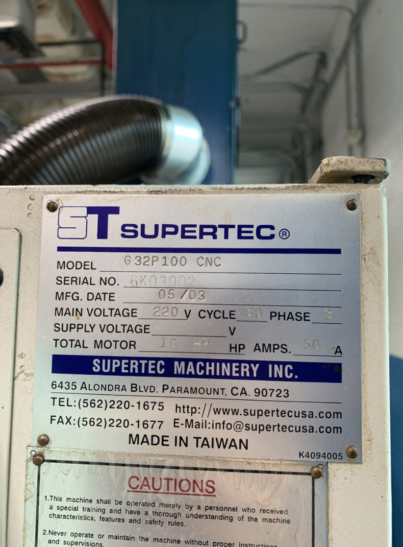 Lot 42 - Supertec G32P 100 CNC Cylindrical Universal Grinder