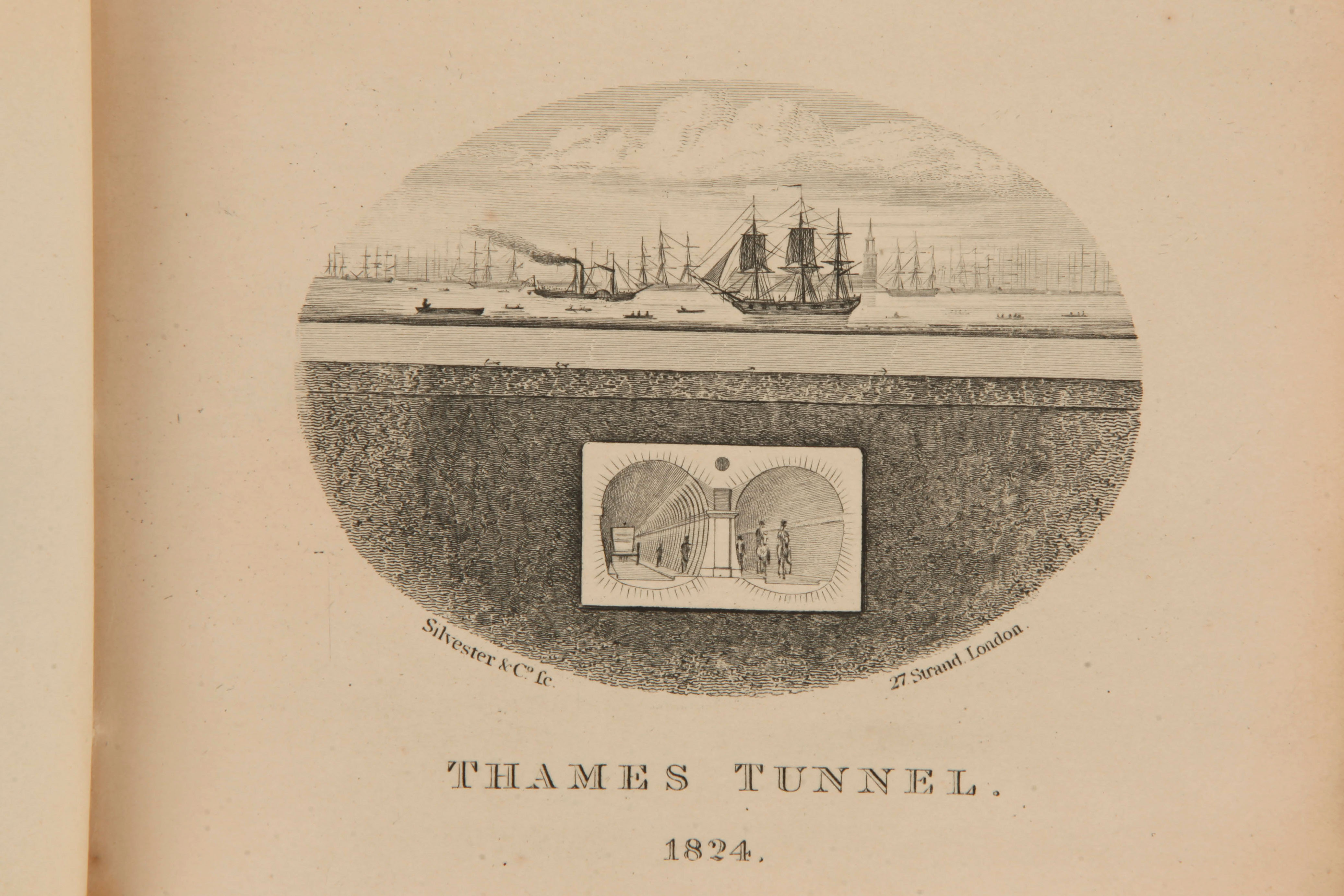 Lot 131 - Brunel's Own Copy - An Explanation of the Works of the Tunnel Under the Thames from Rotherhithe to W