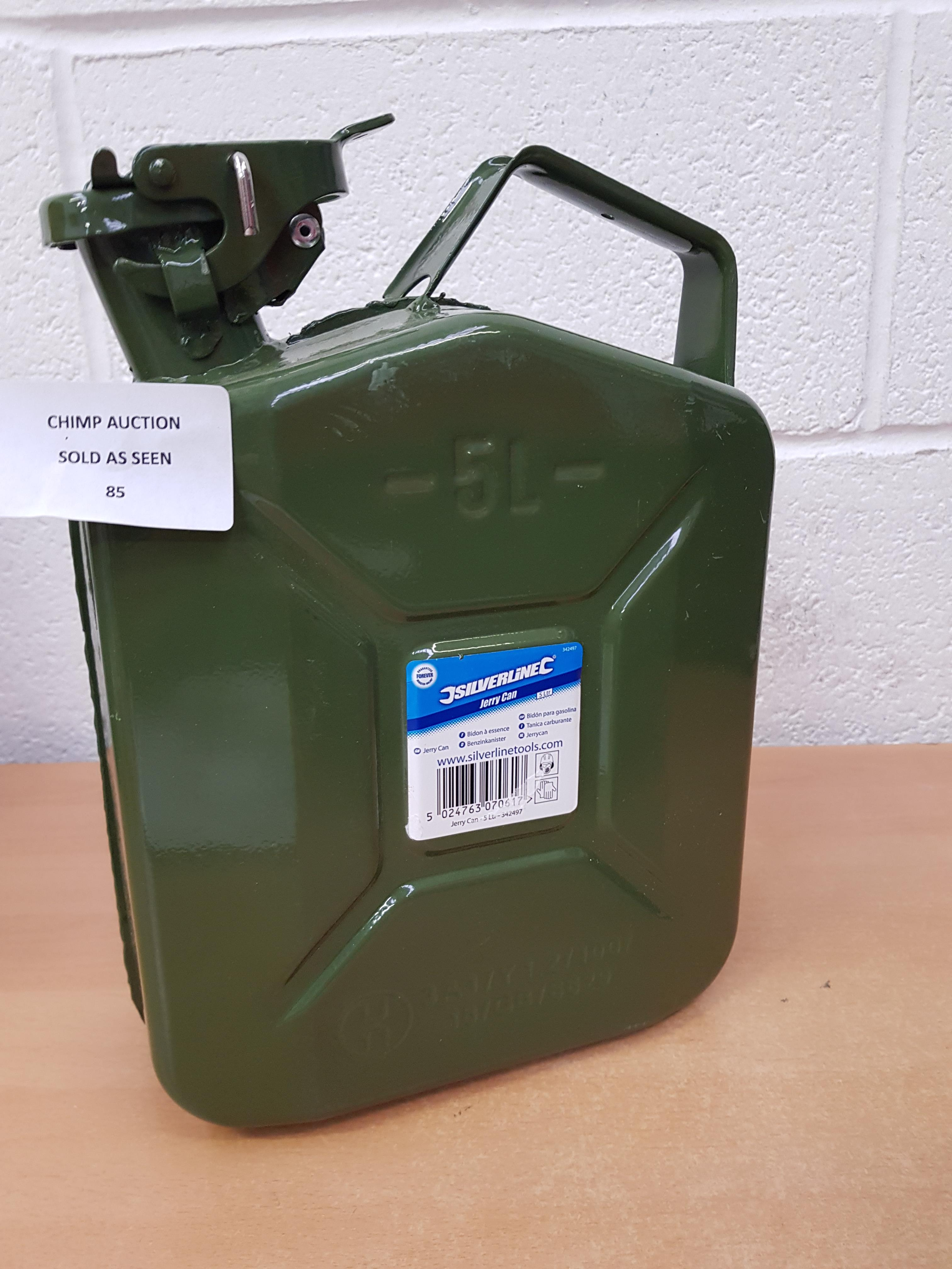 Lotto 85 - Silverline Jerry Can 5 L