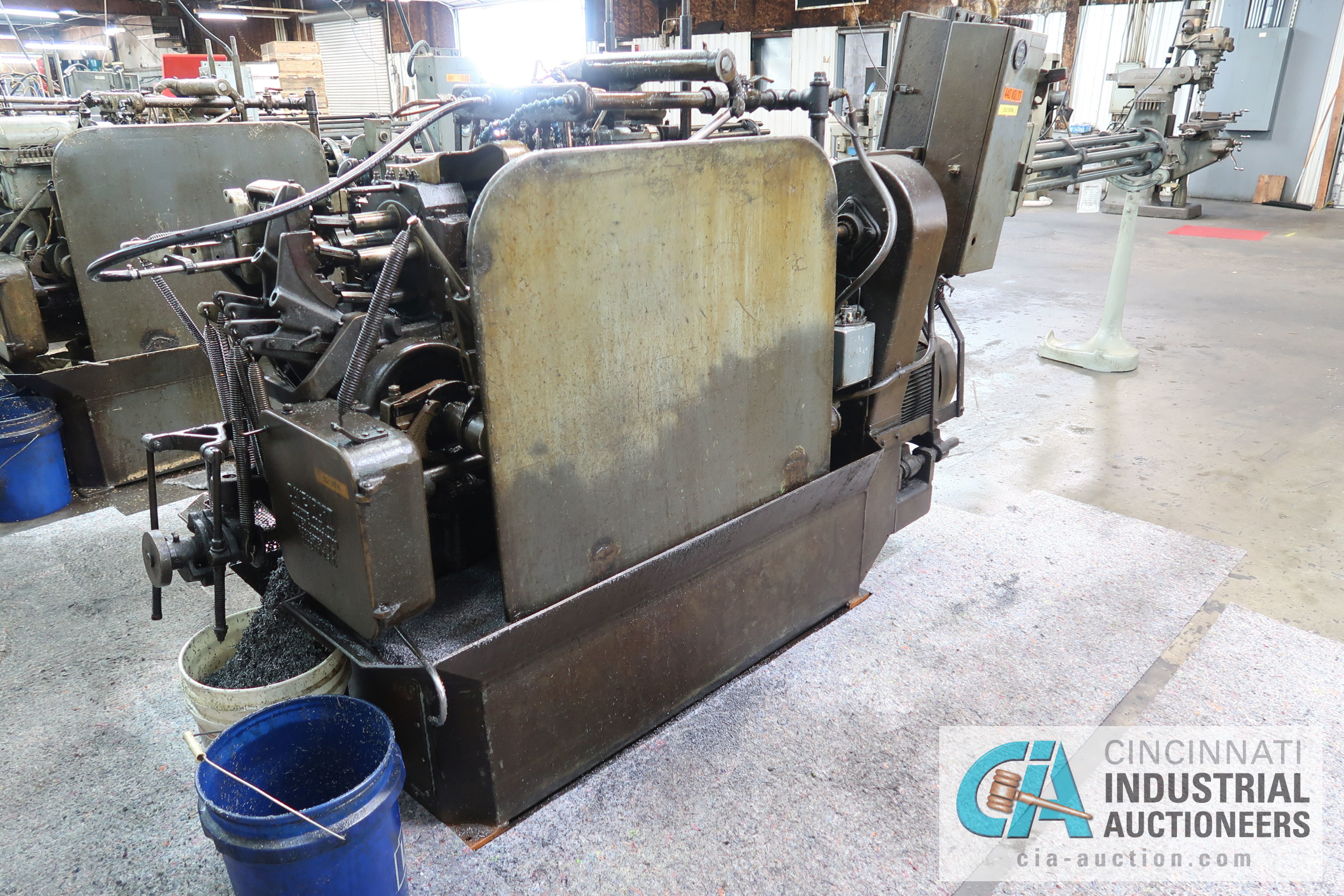 """3/4"""" DAVENPORT 5-SPINDLE SCREW MACHINE; S/N 11002 (NEW 11-1981) WITH 4TH POS. THREAD ROLL, PICK OFF, - Image 3 of 4"""