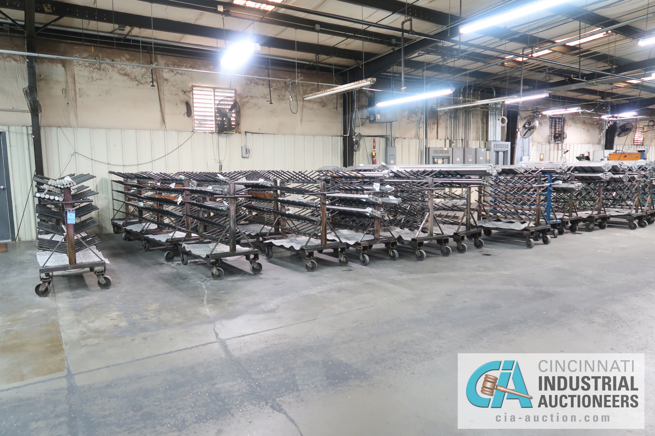 """APPROX. 24"""" X 50"""" X 48"""" HIGH HEAVY DUTY PORTABLE MULTI LEVEL MATERIAL CARTS ** CARTS ONLY, NO - Image 5 of 5"""