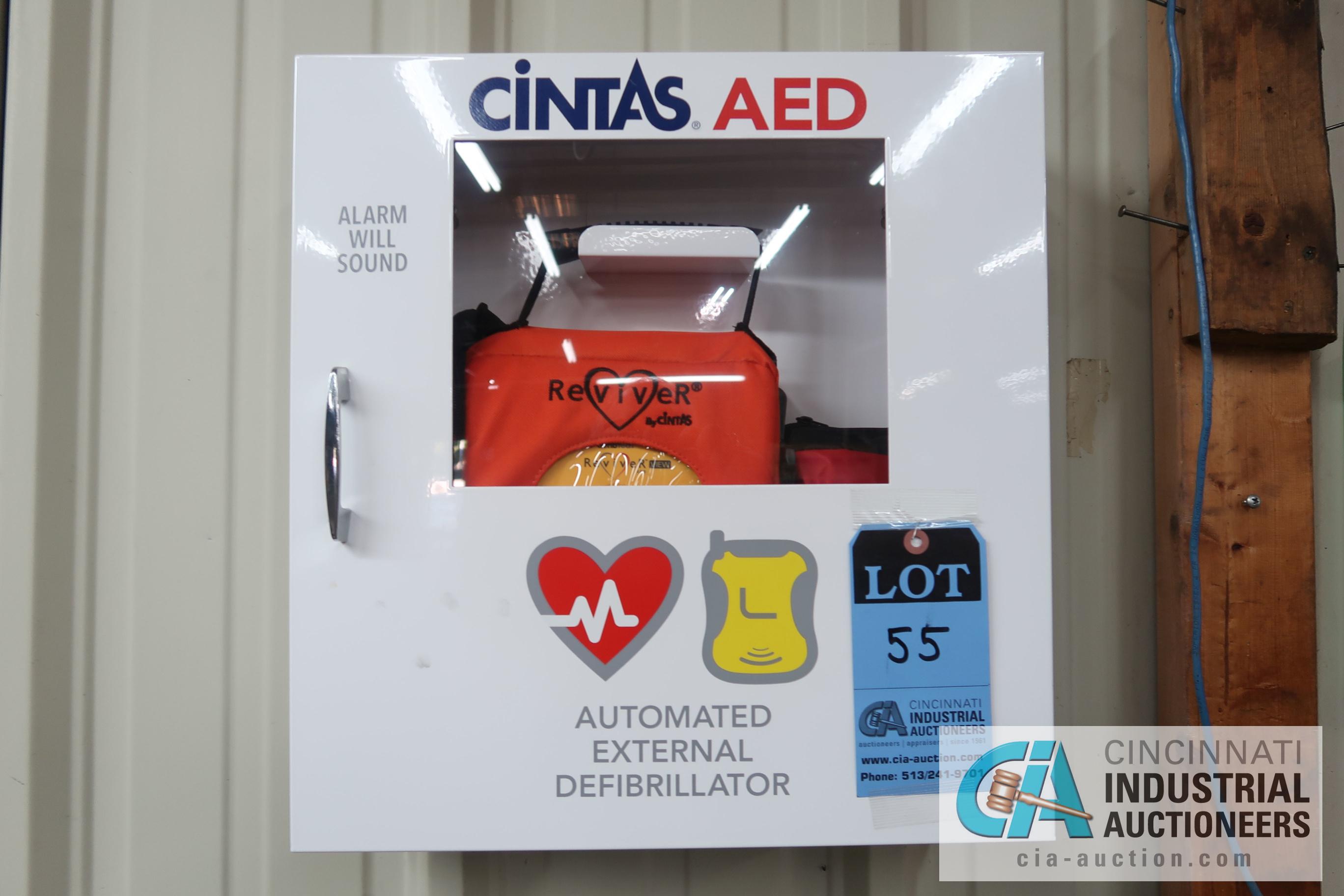 Lot 55 - CINTAS AUTOMATED EXTERNAL DEFIBRILLATOR